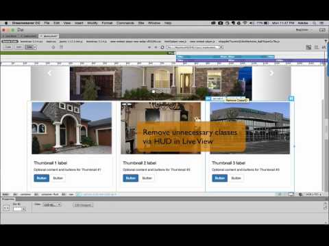 Dreamweaver CC 2015 Adjust responsive layout for thumbnail images