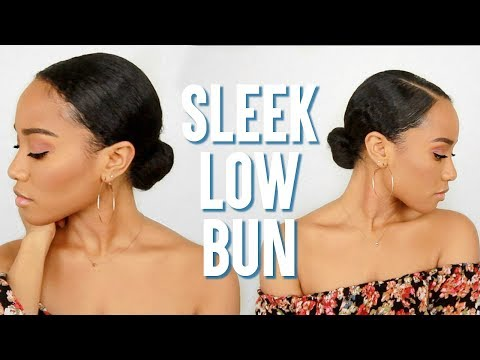 Sleek Low Bun Tutorial (Easy) 🙌🏽