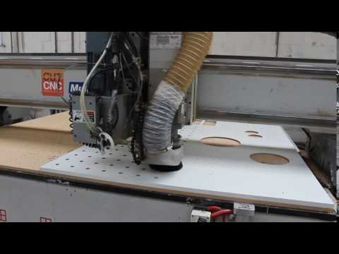 Cnc Cutting of pegboards for Kreisdesign