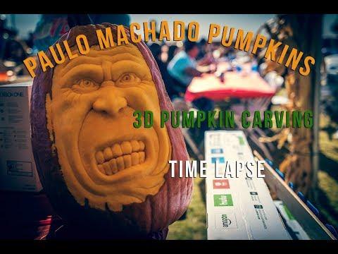 Paulo Machado 3D Pumpkin Carving At Dell'Osso Farms