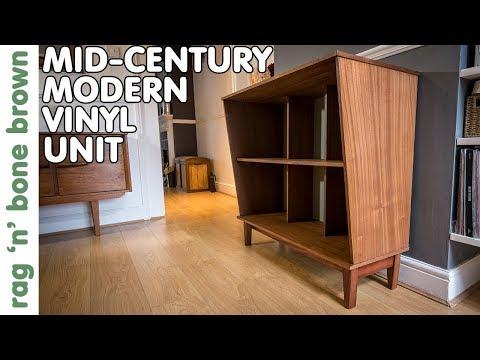 Making A Mid Century Modern Vinyl Storage Unit (part 2 of 2)