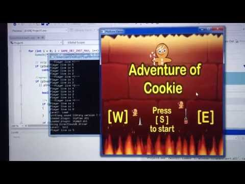 Cookie:  First year student individual game project using C + OpenGL