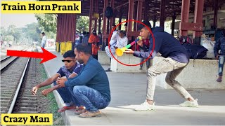 Train Horn Prank | The Best Of Train Horn Prank 2021 😲 Loud Horn Prank Reaction in Public