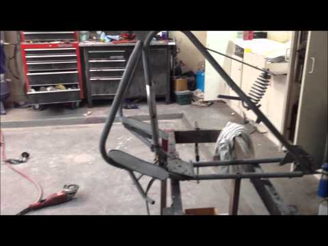 Simplex Motorcycle Frame Modification and Engine Fitting