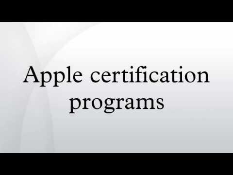 Apple certification programs