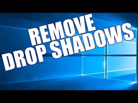 How To Disable Windows 10 Drop Shadows Cursor & Windows