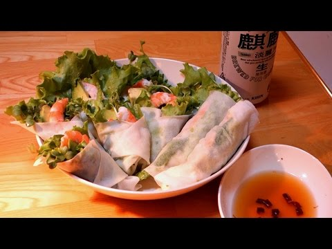 Spring Roll with shrimp & avocado :Today's Cooking