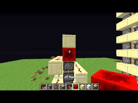 Minecraft Tutorial How To Make A Piston Elevator (No Repeater)
