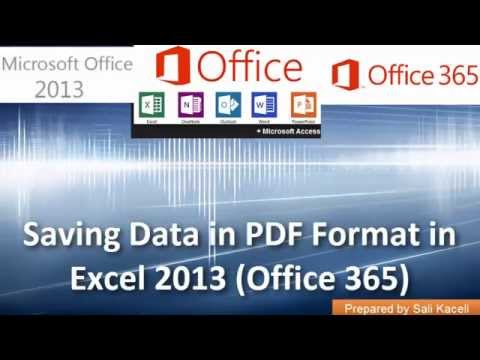 Sharing and Saving Data in PDF Format in Excel 2013 (Office 365) 18 of 18