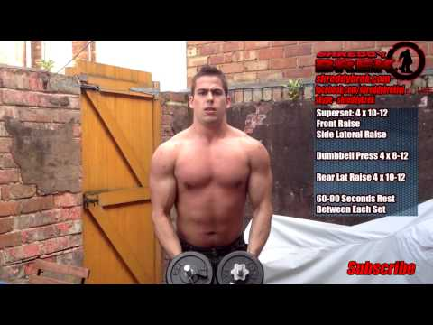 BEST Dumbbell Workout - My INTENSE Home Shoulder Workout To Build Muscle Fast