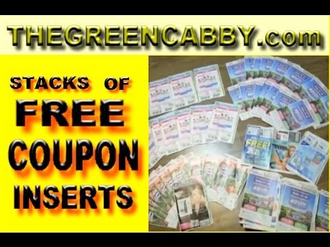Stacks of FREE COUPON INSERTS for ( EXTREME COUPONING ) How-to SmartSource & Red Plum