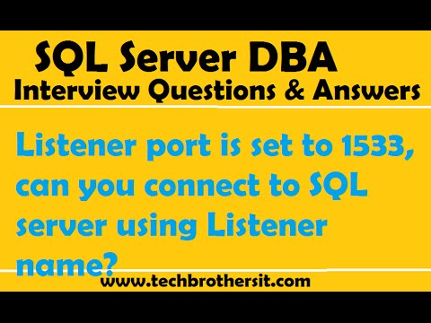 Listener port is set to 1533, can you connect to SQL server using Listener name