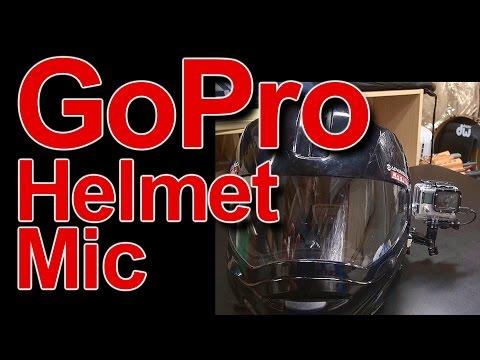 GoPro Hero 4 Mounted Mic in Modular Helmet