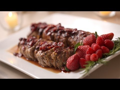 Pork Loin with Berry for Balsamic Glaze