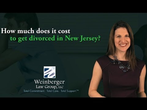FAQ: How much does it cost to get divorced in New Jersey?