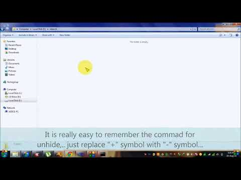 How to hide and unhide the folder using command prompt (CMD)