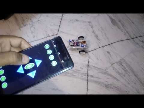 Bluetooth controlled robot using Android mobile