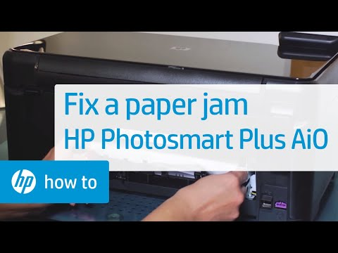 Fixing a Paper Jam - HP Photosmart Plus All-in-One Printer (B209a)