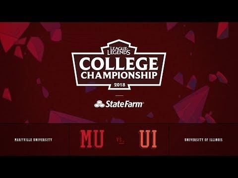 Illinois vs Maryville | QuarterFinals Game 1 | 2018 College Championship | UI vs MU
