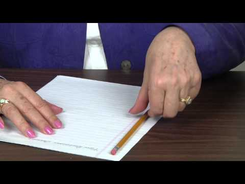 How to hold Pencil and Paper for Left handers