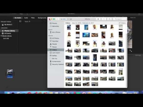 How to| Import from iPhotos to iMovie 10.1.4