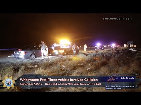 Whitewater: Woman Dead in Collision with Big Rig