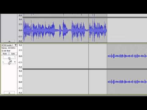 Audacity - Part 4 - aligning multiple tracks and volume adjustment