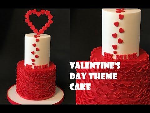 Valentine's Day theme cake
