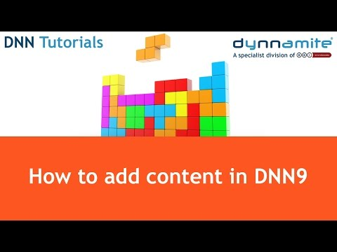 DNN Tutorials - How to add content to a page in DNN9