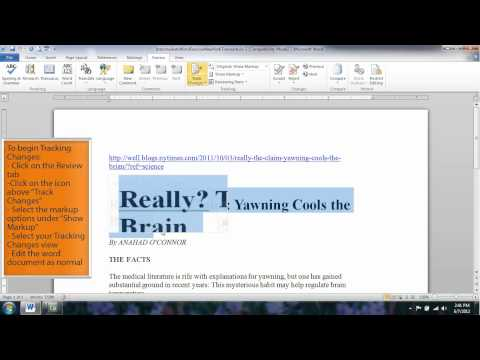 Microsoft Word 2010 Tutorial 07: Tracking Changes #1