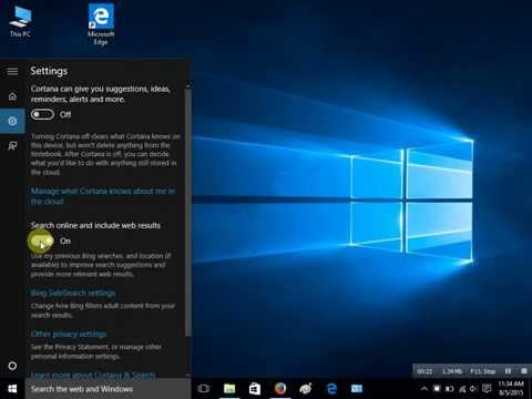 How to Disable Bing search in Search Box On Windows 10