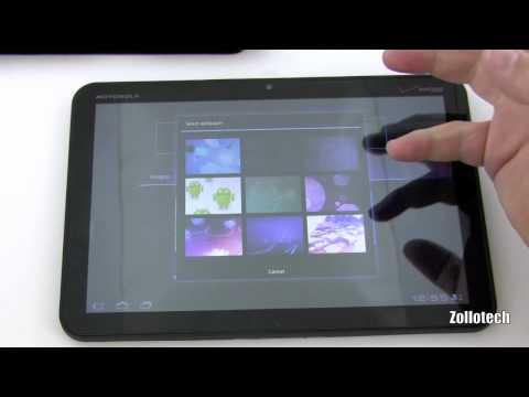Xoom vs iPad Home Screen Comparison