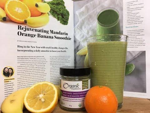Rejuvenation Holy Basil Smoothie | Raw Vegan