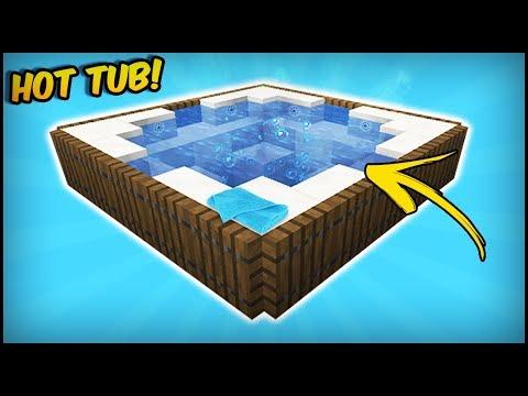 Minecraft - How To Make A 1.13 Working Hot Tub (Update Aquatic)