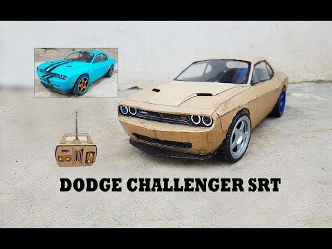 WOW! Super RC Dodge Challenger SRT || How to make Cardboard Dodge || DIY ||  Electric Toy Car
