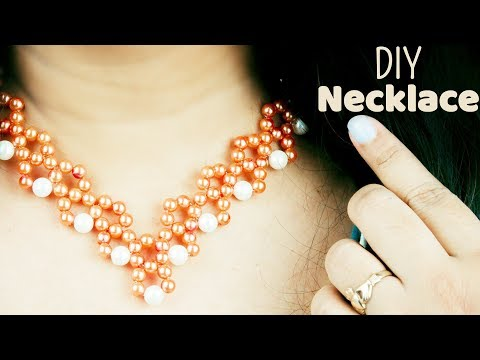 DIY Designer Pearl necklace | How to make bridal necklace at home | Beads art