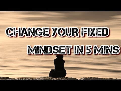 Change Your Fixed Mindset in 5 Minutes - Let's see if it works