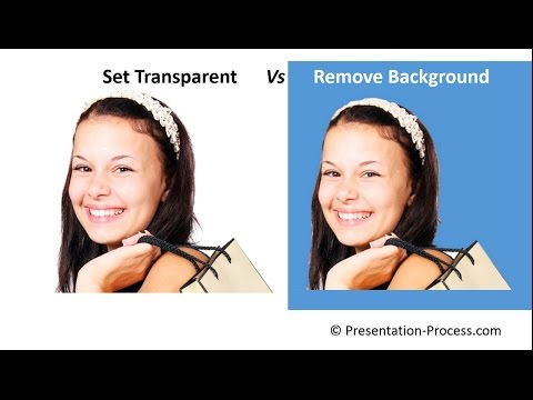 Set Transparent color vs Remove Background : PowerPoint Tips Series