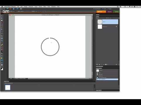 Shape Text and Dots into a Circle using Photoshop Elements