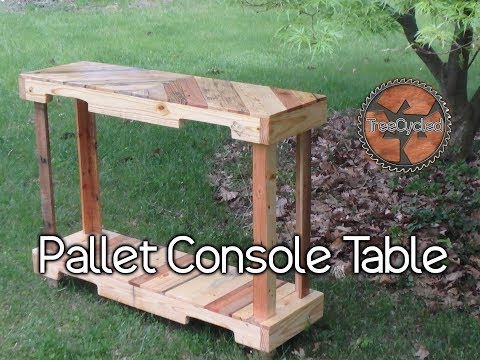 Console Table Built From 100% Reclaimed Pallet Lumber!