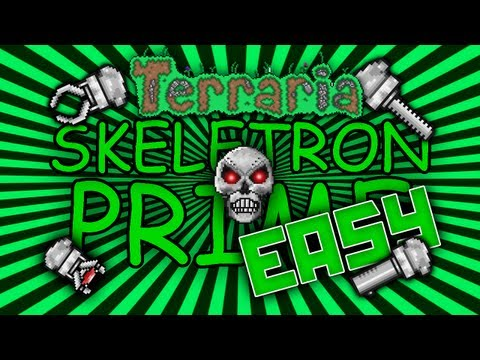 Terraria Easy Way to Defeat Skeletron Prime Low Tier Armor and Weapons Solo Guide/Strategy @demizegg
