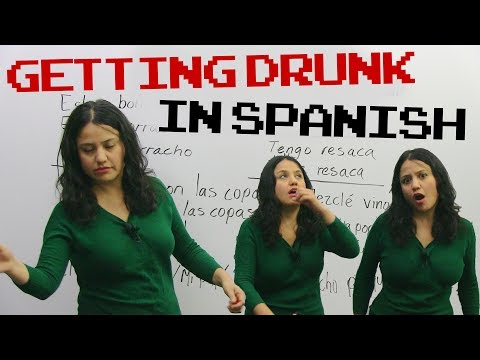 Alcohol & Drinking vocabulary in Spanish!