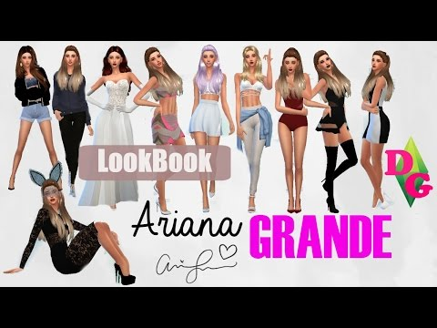 Speedsims Ariana Grande SIMS 4 LookBook (outfits songs) + CC | Songs Remix