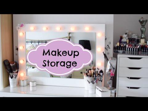 Makeup Storage ideas and solutions.