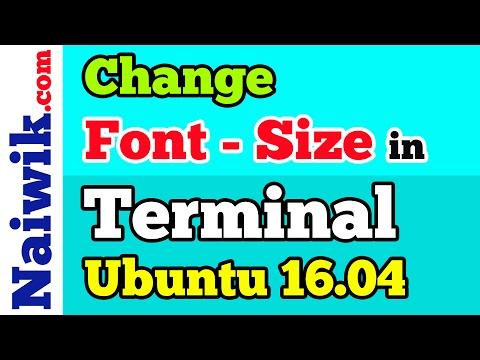 How to change font size in Ubuntu Terminal