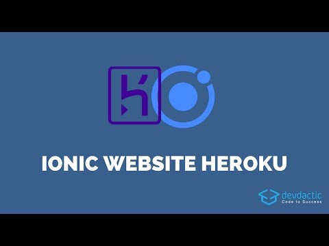 How to Deploy Your Ionic App as Website to Heroku