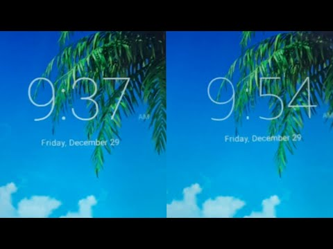 How To Change Stock Lock Screen Clock Font On Android