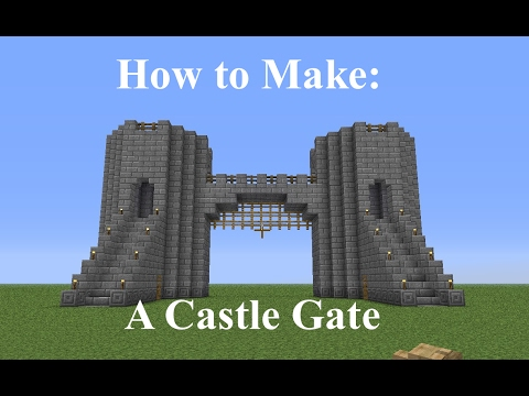 Minecraft - How to Build a Castle Gate - Fast and Easy