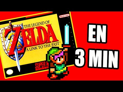 ZELDA A LINK TO THE PAST EN 3 MINUTES ! [LAUPOK SPEED COMMENT]