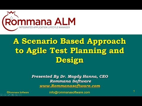 ALM Tools | A Scenario Based Approach to Agile Test Planning and Design